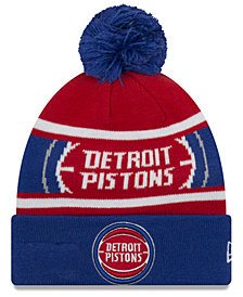 New Era Boys' Detroit Pistons Jr. Callout Pom Hat