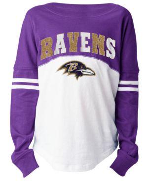 Image of 5th & Ocean Baltimore Ravens Slub Long Sleeve T-Shirt, Girls (4-16)