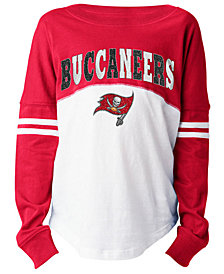 5th & Ocean Tampa Bay Buccaneers Slub Long Sleeve T-Shirt, Girls (4-16)