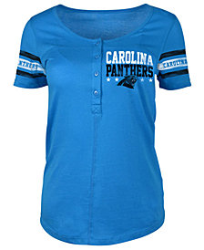 5th & Ocean Women's Carolina Panthers Button Down T-Shirt