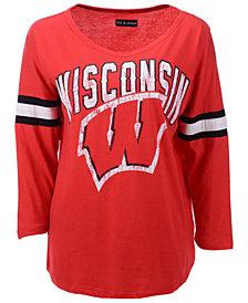 5th & Ocean Women's Wisconsin Badgers Stripe Sleeve Tunic