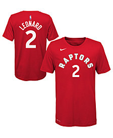 Nike Kawhi Leonard Toronto Raptors Icon Name and Number T-Shirt, Big Boys (8-20)