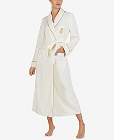 Lauren Ralph Lauren Shawl-Collar Long Wrap Robe