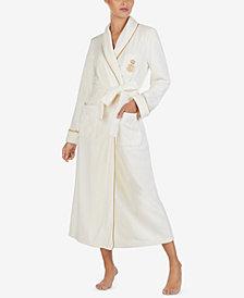 Lauren Ralph Lauren Shawl-Collar Long Wrap Robe