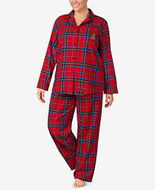 Lauren Ralph Lauren Plus Size Cotton Twill Pajama Set