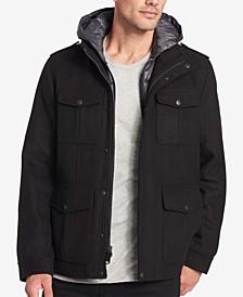 Men's Wool-Blend Four-Pocket Coat