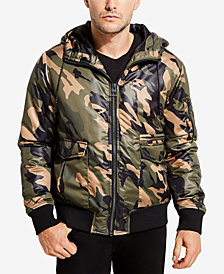 GUESS Men's Camo Hooded Jacket