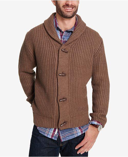 4279bdb448e8fa Weatherproof Vintage Men's Shawl Collar Toggle Cardigan ...