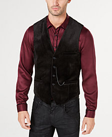 I.N.C. Men's Slim-Fit Velvet Vest, Created for Macy's