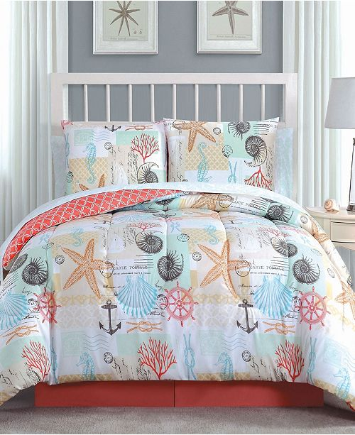 Geneva Home Fashion Belize 8 Pc Queen Bed In A Bag