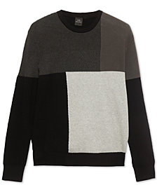 Armani Exchange Mens Geometric Block Sweater