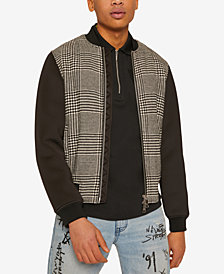 A|X Armani Exchange Men's Lightweight Houndstooth Jacket