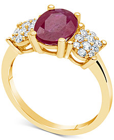 Certified Ruby (2-1/5 ct. t.w.) & Diamond (1/3 ct. t.w.) Ring in 14k Gold