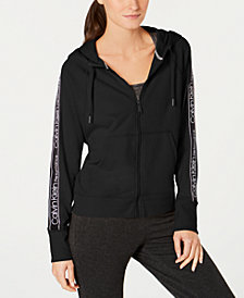 Calvin Klein Performance Logo-Stripe Zip Hoodie