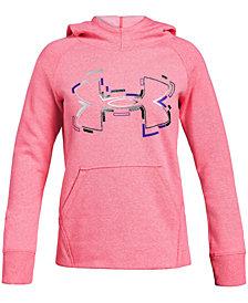 Under Armour Big Girls Threadborne Logo-Print Hoodie