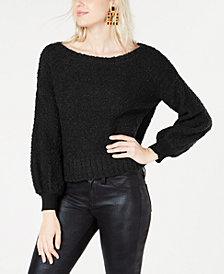 Bar III Bishop-Sleeve Textured Sweater, Created for Macy's