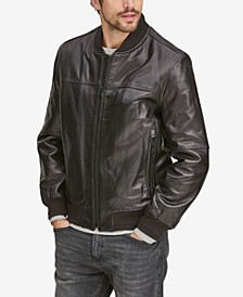 Men's Summit Leather Bomber Jacket