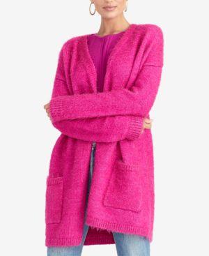 RACHEL RACHEL ROY Plus Size Fuzzy Cardigan, Created For Macy'S in Jasmine Pink