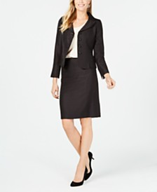 Le Suit Four-Button Skirt Suit