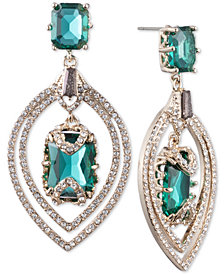 Jenny Packham Gold-Tone Pavé & Stone Orbital Drop Earrings