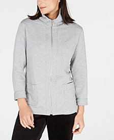 Karen Scott Sweatshirt-Knit Jacket, Created for Macy's