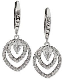 Crystal Openwork Drop Earrings