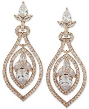 JENNY PACKHAM Crystal Orbital Drop Earrings in Gold