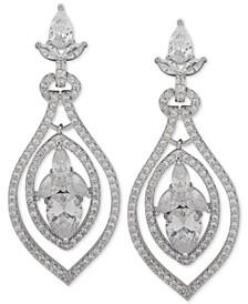 Crystal Orbital Drop Earrings