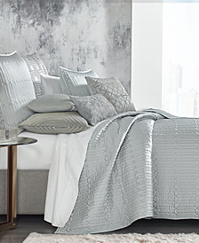 Hotel Collection Lithos King Quilted Coverlet, Created for Macy's