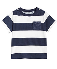 First Impressions Baby Boys Striped Cotton T-Shirt, Created for Macy's