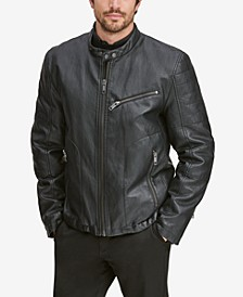 Men's Killian Faux-Leather Racer Jacket