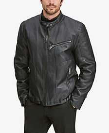 Marc New York Men's Killian Faux-Leather Racer Jacket
