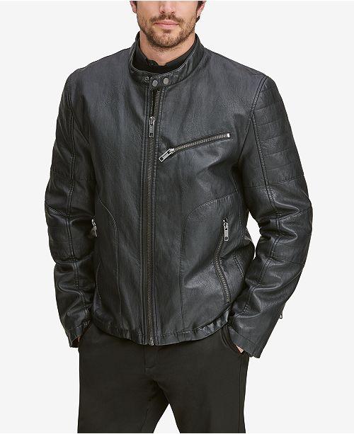 Marc New York Men's Killian Faux-Leather Racer Jacket