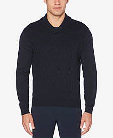 Perry Ellis Men's Textured Shawl-Collar Sweater