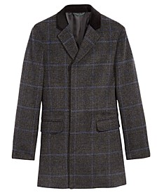 Big Boys Plaid Dress Coat