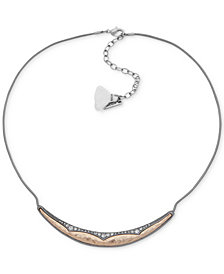 """lonna & lilly Two-Tone Crystal Collar Necklace, 16"""" + 3"""" extender"""