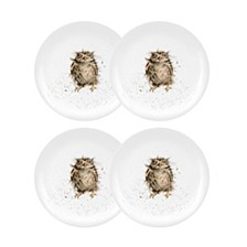 """Wrendale Owl Plate """"What a Hoot"""" - Set of 4"""