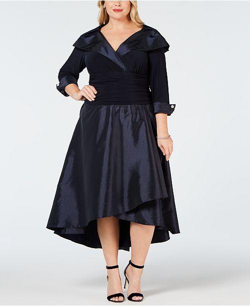 R & M Richards Plus Size Portrait-Collar Dress & Reviews ...