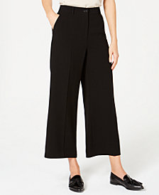 Weekend Max Mara Neutro Cropped Wide-Leg Pants