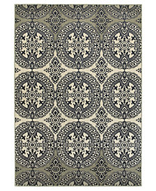 "Oriental Weavers Linden 7818A Navy/Ivory 3'10"" x 5'5"" Area Rug"