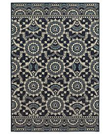 """Oriental Weavers Linden 7842A Navy/Grey 1'10"""" x 3' Area Rug"""