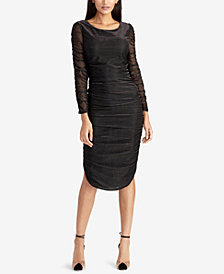 RACHEL Rachel Roy Glitter Ruched Bodycon Dress