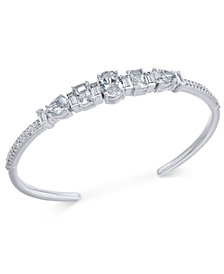 Danori Silver-Tone Crystal Cuff Bracelet, Created for Macy's