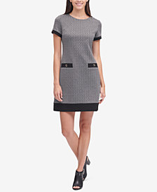 Tommy Hilfiger Printed Faux-Pocket Shift Dress