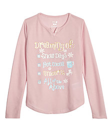 Max & Olivia Little & Big Girls Graphic-Print Pajama Top, Created for Macy's