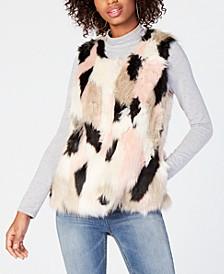 Juniors' Faux-Fur Vest