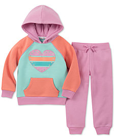 Kids Headquarters Toddler Girls 2-Pc. Colorblocked Fleece Hoodie & Jogger Pants Set