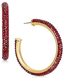 kate spade new york Crystal Hoop Earrings