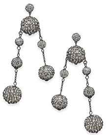 Pavé Orb Mismatch Drop Earrings