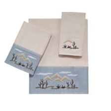 Avanti Cactus Landscape Embroidered Bath Towel